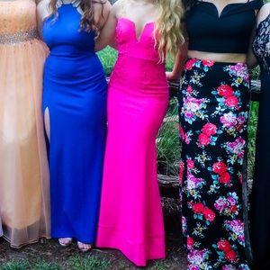 Windsor Hot Pink Mermaid Tight Prom Dress